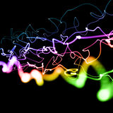 Multicolored neon lines Stock Photo