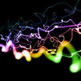 Multicolored neon lines Stock Photo