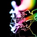 Multicolored neonlichtachtergrond Royalty-vrije Stock Afbeeldingen