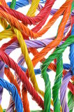 Multicolored network cable bundles Royalty Free Stock Photography