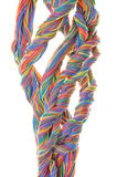 Multicolored network computer cables Royalty Free Stock Images