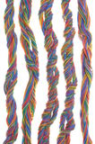 Multicolored network computer cables Royalty Free Stock Photo