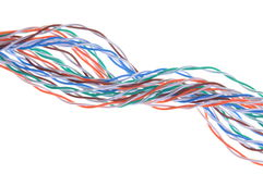 Multicolored network computer cables Royalty Free Stock Photos