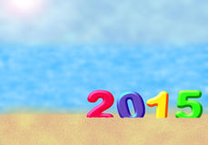 Multicolored New Year 2015 Royalty Free Stock Photography