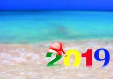 Multicolored Nieuwjaar 2019 stock afbeelding