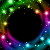 Multicolored Night Star Background Stock Image