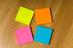 Multicolored nota's royalty-vrije stock afbeeldingen