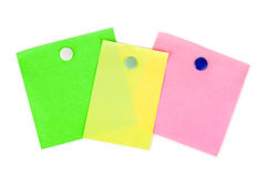 Multicolored note paper. Isolated on white background Royalty Free Stock Photos