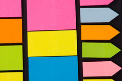 Multicolored note paper Royalty Free Stock Images