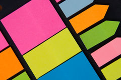 Multicolored note paper Stock Image