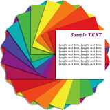 Multicolored note sheets with copy space. For your text, illustration on white background royalty free illustration