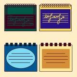 Multicolored notebooks Stock Image