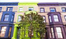 The multicolored Notting Hill houses, London, UK. Royalty Free Stock Photo