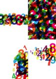 Multicolored number abstract background colorful texture. Kid education concept royalty free illustration