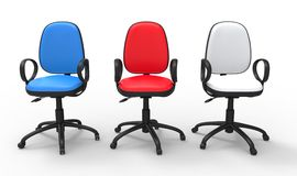 Multicolored Office Chairs Stock Image