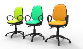 Multicolored Office Chairs 02 Stock Photos