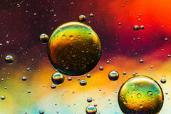 Multicolored oil and water abstract stock images