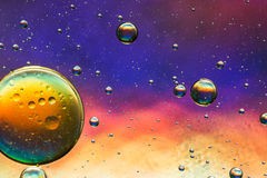 Multicolored oil and water abstract royalty free stock photos
