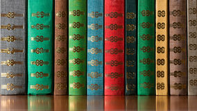 Multicolored Old Books Royalty Free Stock Photography