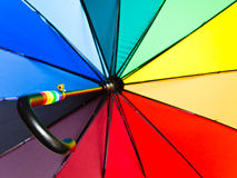 Multicolored opened umbrella Royalty Free Stock Photos