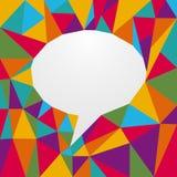 Multicolored origami speech bubble Stock Photo