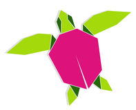 Multicolored origami turtle Stock Image