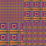 Multicolored ornament in patchwork style Royalty Free Stock Images