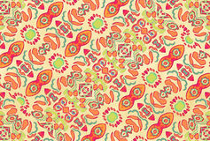 Multicolored Ornament Swirls Stock Photography