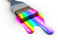 Multicolored paint Stock Image