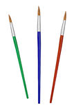 Multicolored paintbrushes Royalty Free Stock Photography
