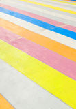 Multicolored painted sidewalk. Royalty Free Stock Photos