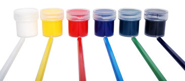 Multicolored paints Royalty Free Stock Photo