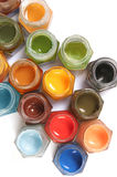 Multicolored Paints. Paint, white, background Stock Image