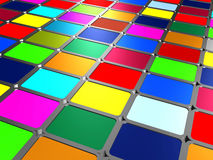 Multicolored paints Royalty Free Stock Images
