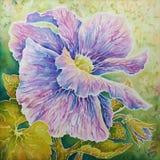 Multicolored pansy (batic). Multicolored pansy (batic on natural silk royalty free illustration