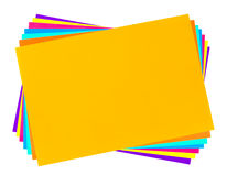 Multicolored paper Stock Photography
