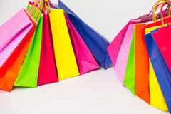 Multicolored paper bags Stock Photo