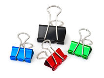 Multicolored paper clips Royalty Free Stock Images