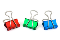 Multicolored paper clips Stock Images