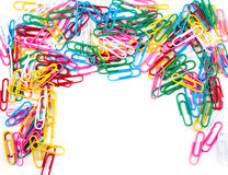 Multicolored paper clips Royalty Free Stock Image