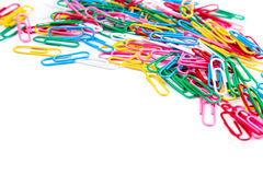 Multicolored paper clips Stock Photography