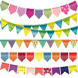 Multicolored paper garland Royalty Free Stock Image
