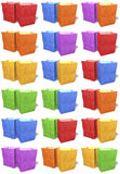 Multicolored paper shopping bags, doubles Stock Photography