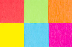 Multicolored paper squares Stock Images