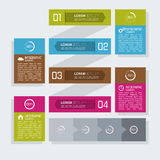Multicolored paper stickers  with numbers and Royalty Free Stock Photo
