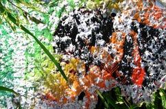 multicolored paper texture stock photo