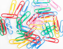 Multicolored Paperclips Royalty Free Stock Photography