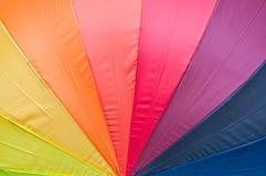 Multicolored paraplu Royalty-vrije Stock Afbeeldingen