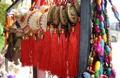 Multicolored parels en bijouterie Stock Afbeeldingen