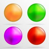 Multicolored parels op een witte achtergrond stock illustratie